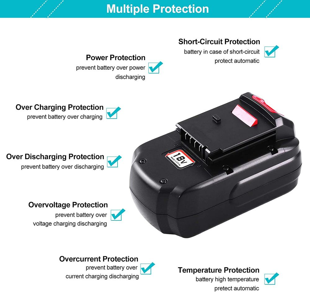 2Pack 18V 4.0Ah Ni-MH Replacement Battery Compatible with Porter Cable PC18B PCC489N PCMVC PCXMVC