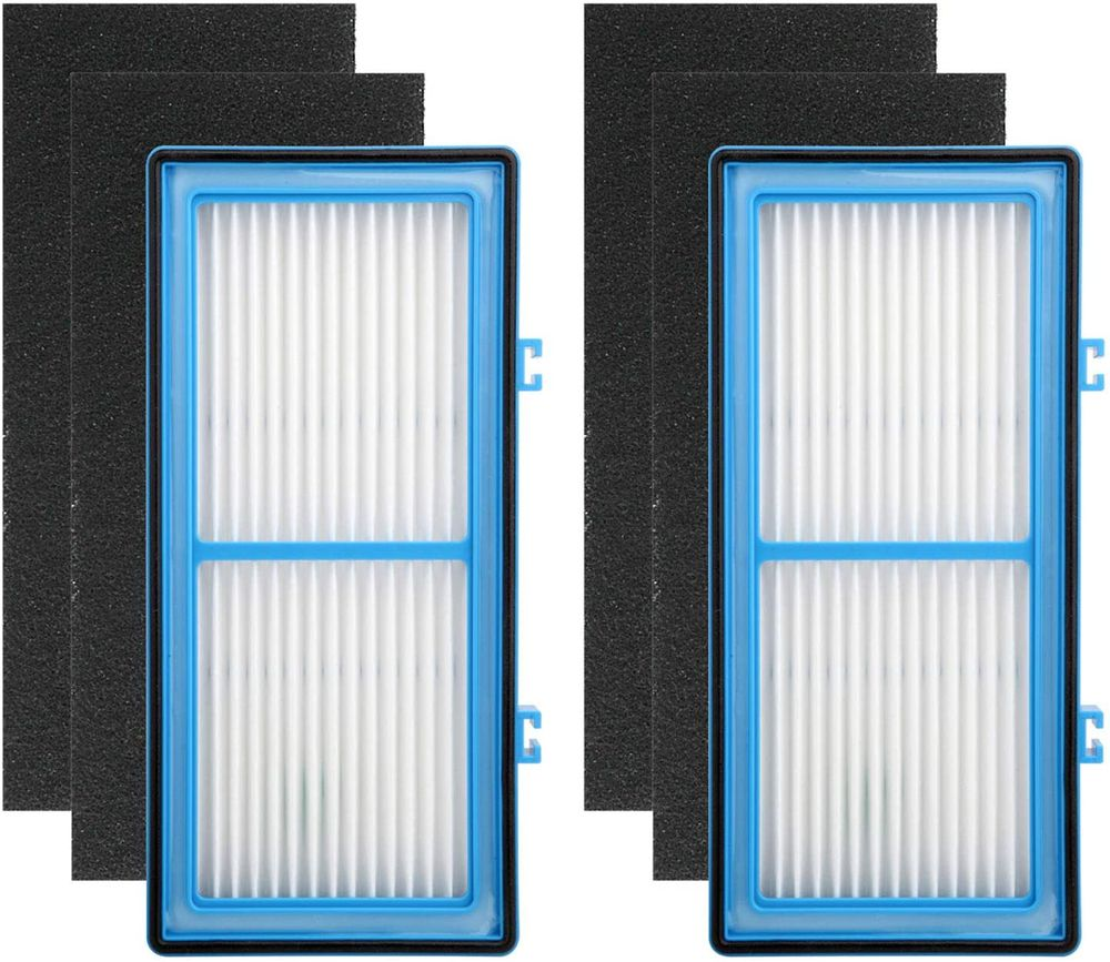 Colorfullife 2 Filter + 4 Carbon Booster Filters for Holmes AER1 Type Total Air Filter Replacement Filters for HAPF30AT and HAP242-NUC
