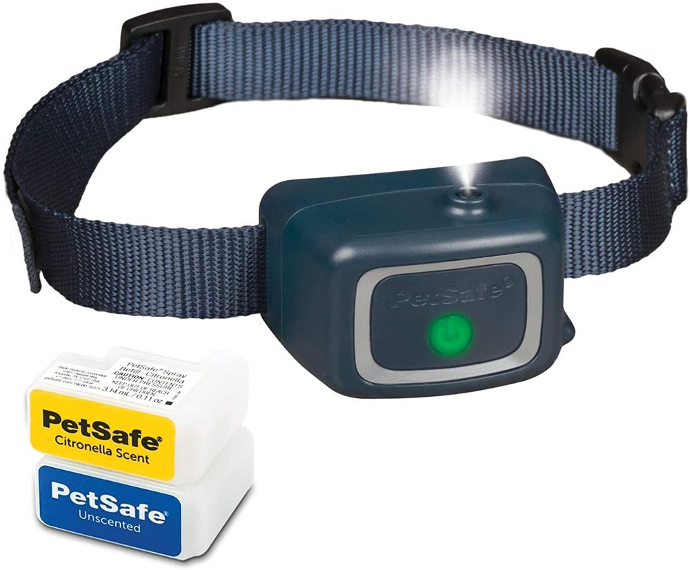 PetSafe Spray Bark Dog Collar, Automatic Anti-Bark Device for Dogs 8 lb. and Up - Rechargeable and Water-Resistant – Includes Citronella and Unscented Spray Refills & USB Charging Cable