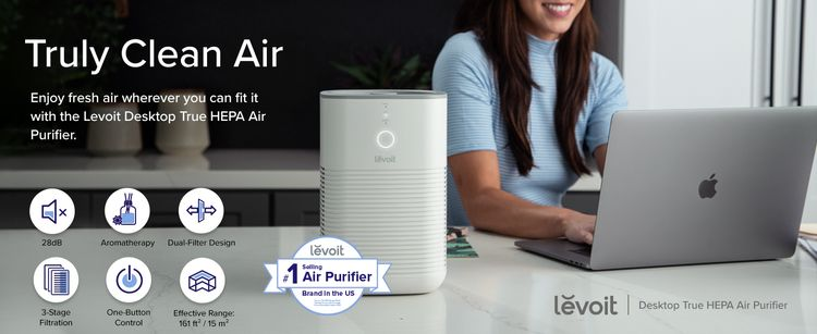 HEPA Air Purifier, 28dB, Truly Clean Air, 3-Stage Filtration