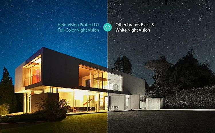 HeimVision Protect D1 PTZ Security Camera Outdoor with Floodlights, Full-Color Night Vision
