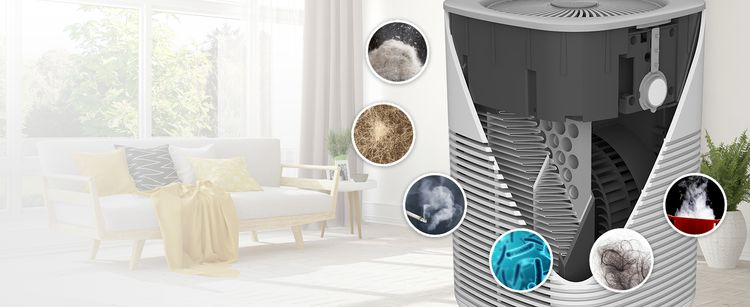 HEPA Air Purifier, 3-Stage Filtration, 28dB