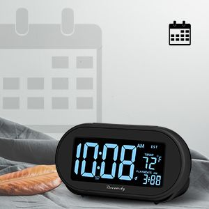 bedside alarm clock with date