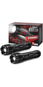 S1050 LED Flashlight 2-Pack value set small compact powerful bright