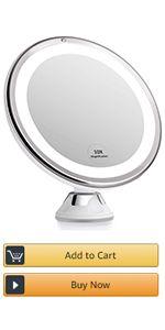 Lighted Suction Cup Mirror