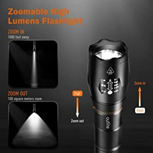 Zoomable Tactical Flashlight