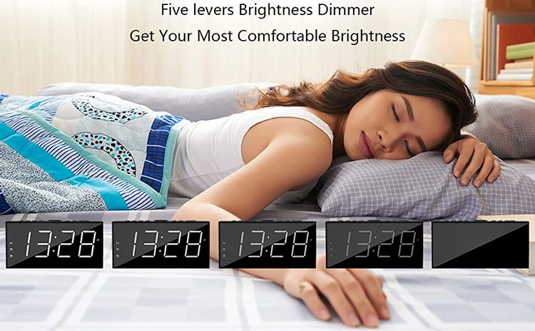 bedside clock with dimmer