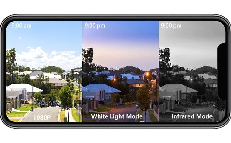 1080P Camera White Day and Night Vision