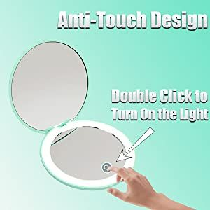 compact mirror with light