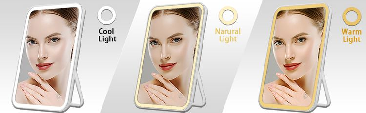 3 color led mirror with lights