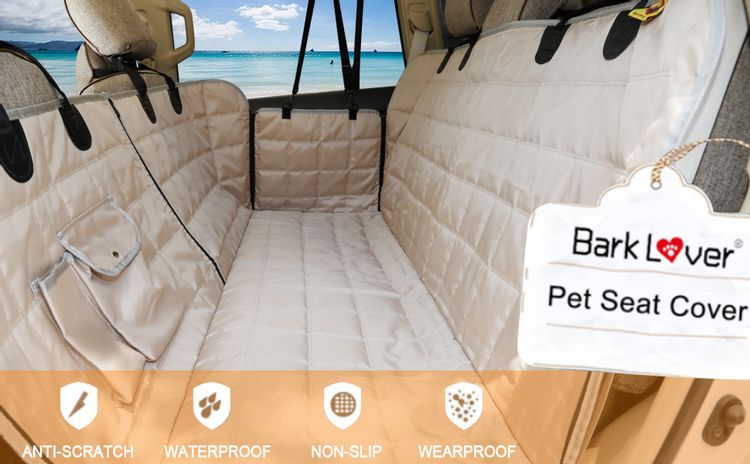 Car hammock for dog with middle zipper passenger available is essential, keeping your car from dirty