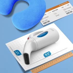 Steamer on a measure chart next to a travel boarding pass