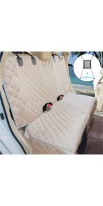 Deluxe Dog Car Seat Cover with Free Car Dog Barrier