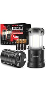 Sunlit LED Lantern 2-pack with duracell batteries included value