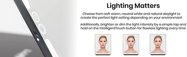 warm soft daylight natural neutral dimmable brighten colour ringlight