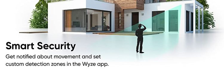 Get notified about movement and set custom detection zones in the Wyze app.