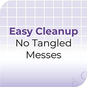 easy cleanup no tangled mess