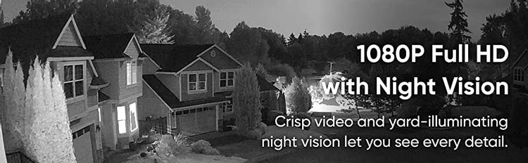 Crisp video and yard-illuminating night vision let you see every detail.