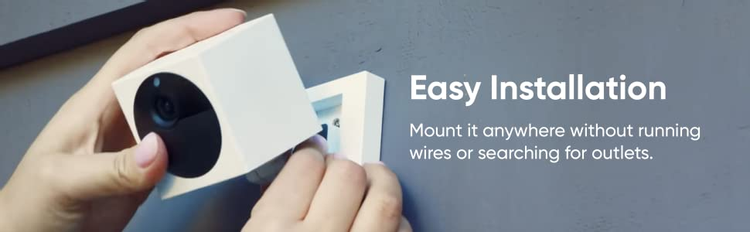Mount it anywhere without running wires or searching for outlets