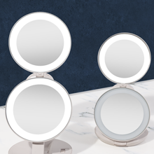 Zadro Beauty Products LED Lighted Makeup Travel Mirror 1X 10X Adjustable Brightness