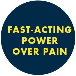 fast-acting power over pain