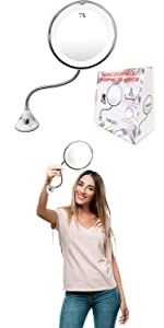 7X Flexible Magnifying Makeup Mirror with Light